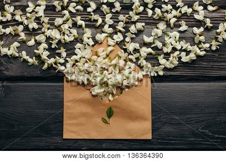 Envelope Full Of Acacia Blossoming