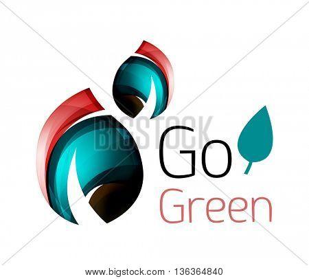 Go green nature concept. logo leaf