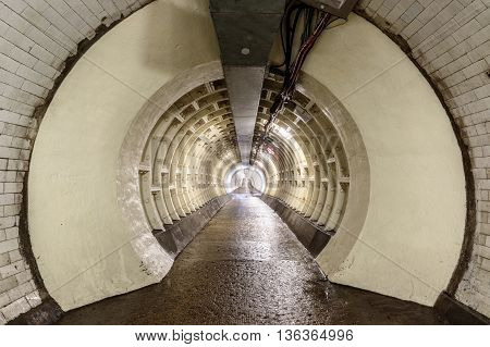 Greenwich Foot Tunnel Beneath The River Thames