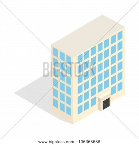 Office building icon in isometric 3d style isolated on white background. Construction symbol