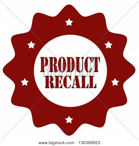 Stamp with text Product Recall, vector illustration