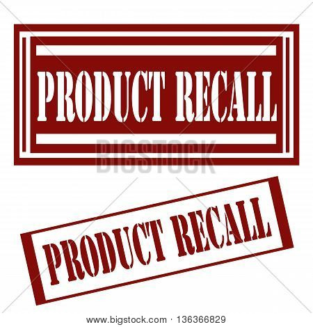 Set of stamps with text Product Recall,vector illustration
