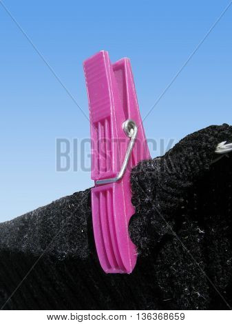 Pink Plastic Clothes Peg, For Hanging Out Washing 1