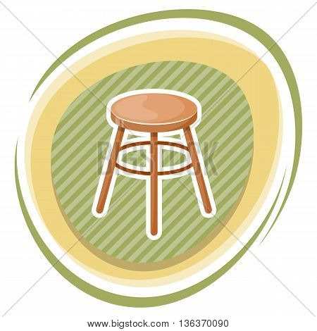 Chair Vector Colorful Icon