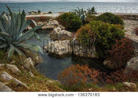 Geological Phenomenon Karavotras On The Island Of Kefalonia, Greece