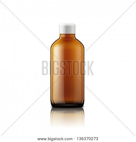Isolated medicine bottle on white background. Empty medicine bottle for drugs, tablets, capsules. Jpeg version.