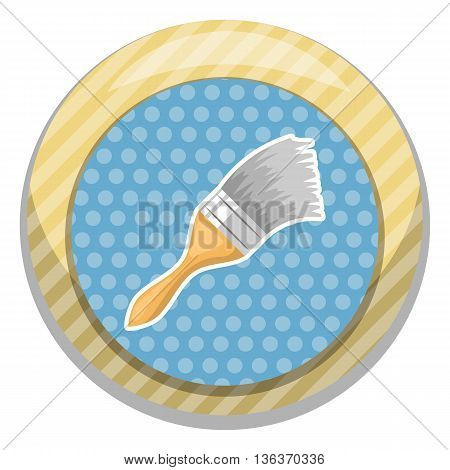 Paint Brush Colorful Icon