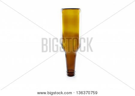beer bottle inverted vertical white isolated white background
