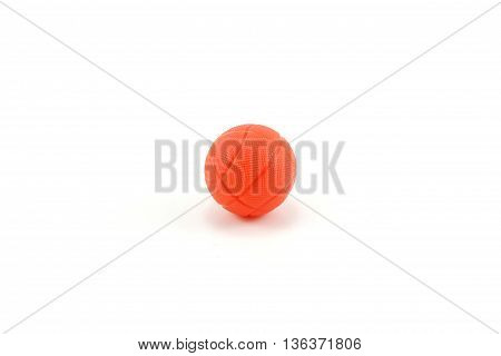 one ball basquetball red isolated white background