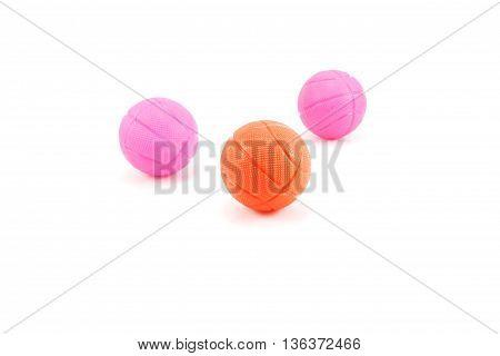 three ball basquetball childish isolated white background