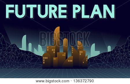 Futurtistic Future Plan Urban Structure Concept