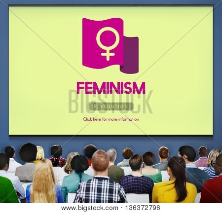 Feminism Women Rights Independence Revolution Concept
