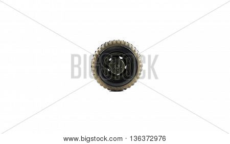child wheel truck gray and black isolated white background