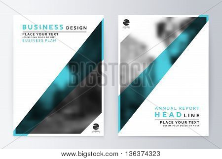 Flyer cover design white and blue. Template brochure. Flyer annual report layout. Presentation template, business flyer a4 white and blue.