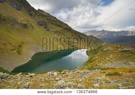 Mountain lake in Abkhazia. Caucasus.