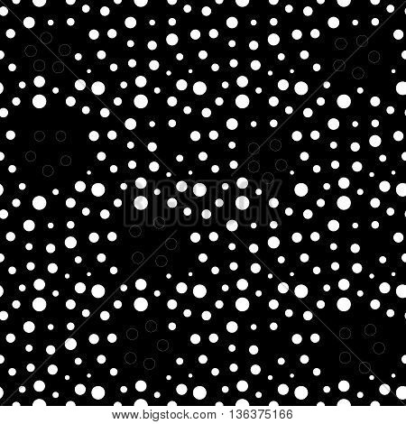 Circle and ring seamless pattern. Fashion graphic background design. Modern stylish abstract monochrome texture. Template for prints textiles wrapping wallpaper website etc. VECTOR illustration
