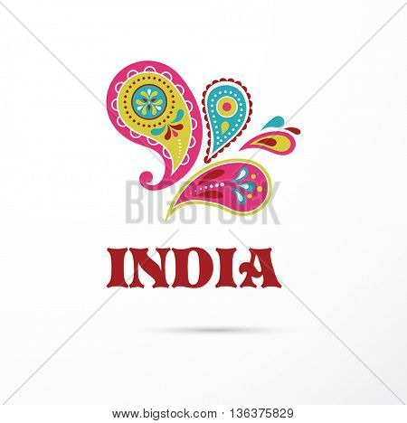 India - Mandala, oriental pattern Indian icon