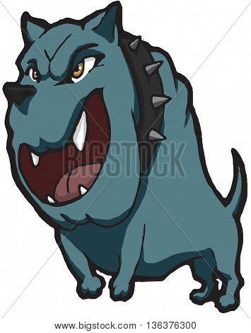 Barking bully breed dog cartoon character cutout
