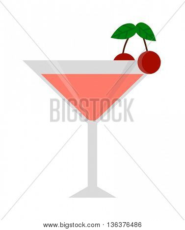 cocktail glass vector illustration.