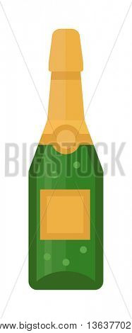 Champagne bottle vector illustration.