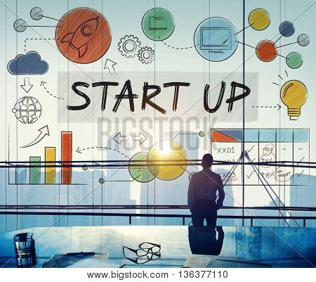 Start up Launch Business Ideas Growth Success Concept