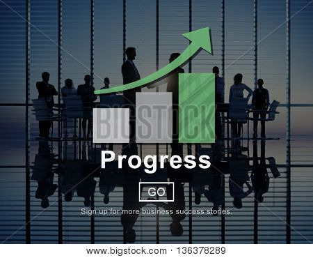 Progress Growth Advance Improvement Business Concept