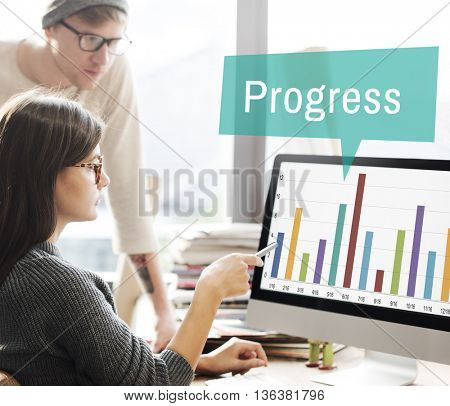 Progress Change Growth Development Improvement Concept
