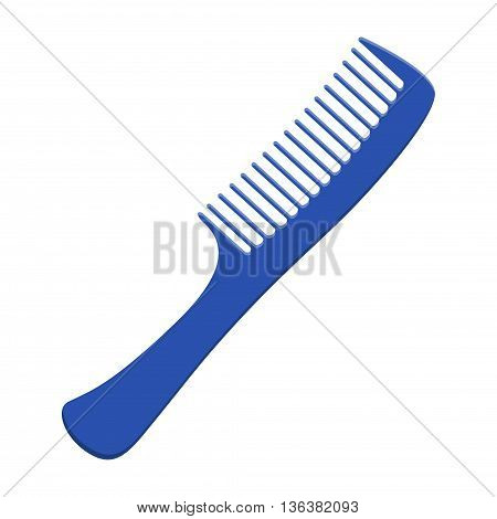 Fashion comb icon and style comb hairdresser care icon equipment. Hair comb for styling accessory in flat style. Barber comb isolated on white background. Care for themselves