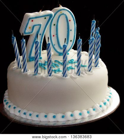 Happy 70th Homemade  Birthday Cake Scene Enlgand
