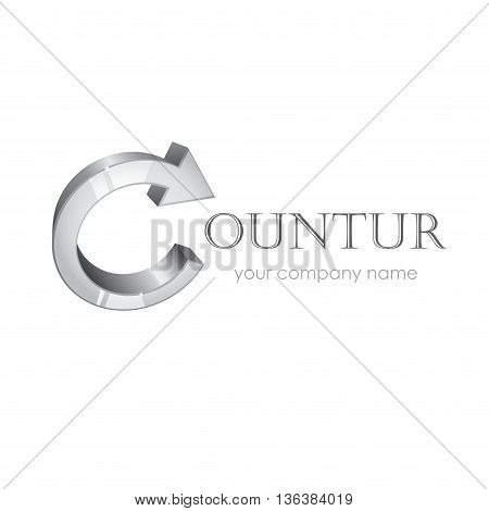 Abstract arrow company logo isolated on white background