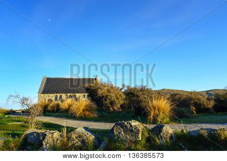 Church of Good Shepherd in Lake Tekapo, New Zealand