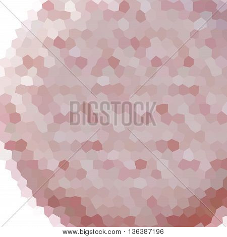 Sphere Low Poly Hexagon Style Vector Mosaic Background