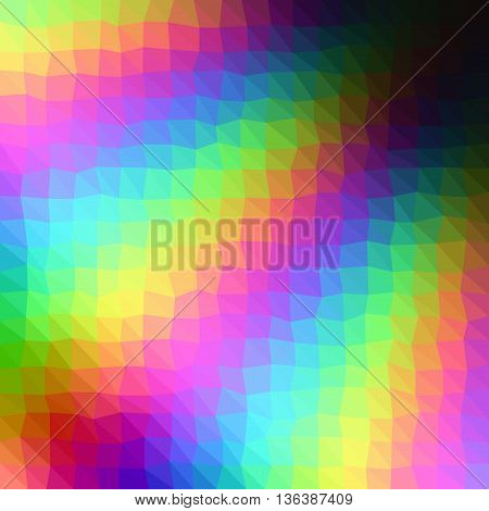 Rainbow Low Poly Triangle Style Vector Mosaic Background