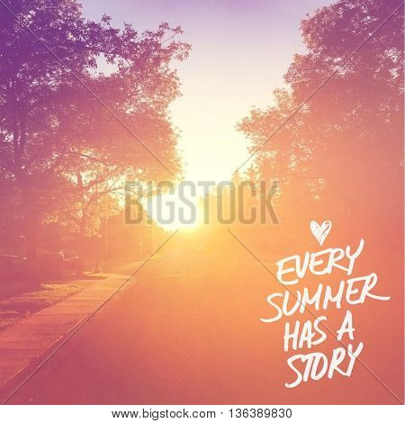 Inspirational Typographic Quote - Every Summer has a story