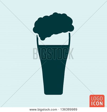 Beer icon isolated. Glass of beer symbol. Vector illustration
