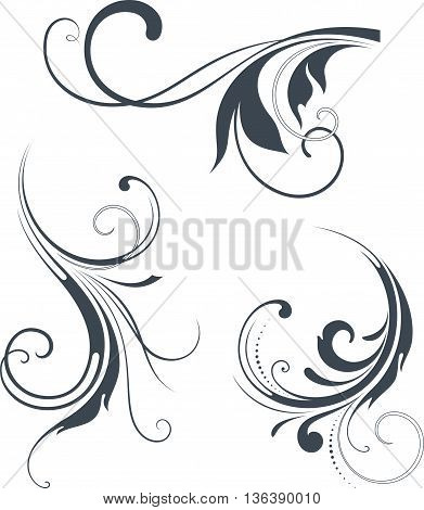 Vectorized Scroll Design. Elements can be ungrouped for easy editing.