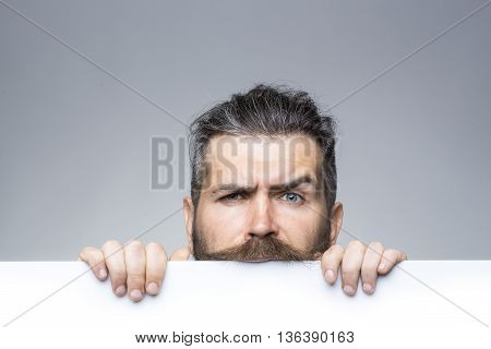 Serious Man With Paper