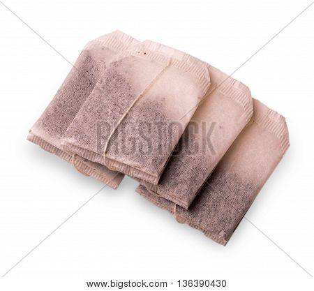 Teabag. Top view. Isolated on a white. with clipping path