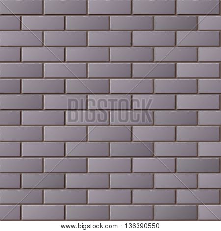 Gray Brick Wall Seamless Pattern for Continuous Replicate