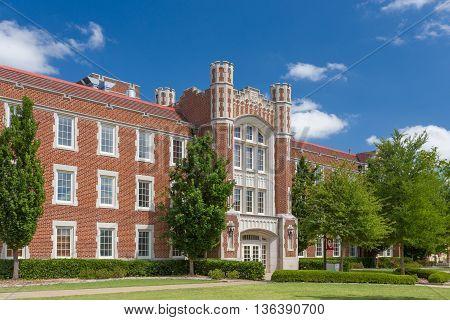NORMAN OK/USA - MAY 20 2016: Ellison Hall on University of Oklahoma at the University of Oklahoma.