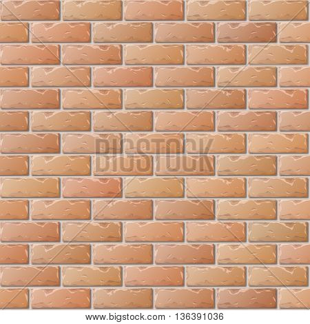 Old Brick Wall Seamless Pattern for Continuous Replicate