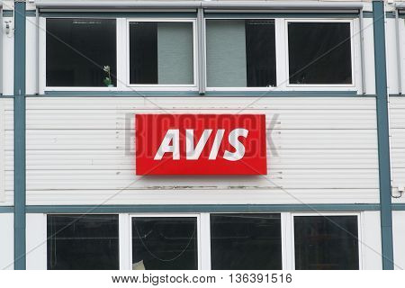 Andalsnes, NORWAY - CIRCA JUNE, 2016: Avis Rent a Car is a US car hire company with offices worldwide