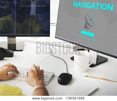 Broadcast Data Transmission GPS Navigation Concept