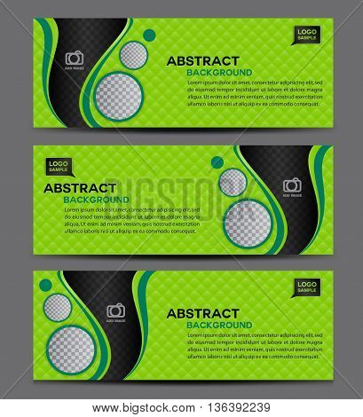 Green Abstract Business Banner Template vector illustration