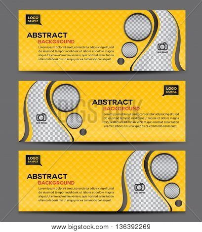 Yellow Abstract Business Banner Template vector illustration