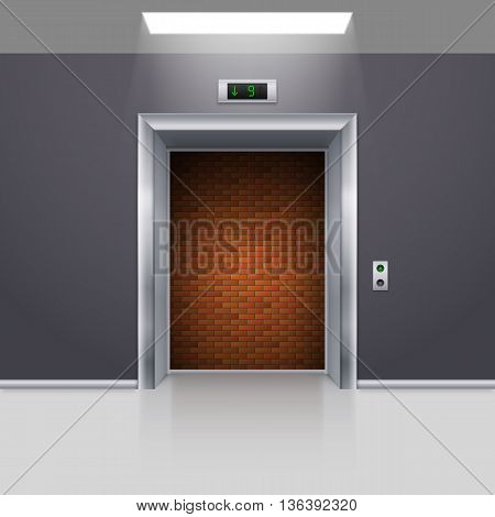 Realistic Elevator with Open Door with Deadlock