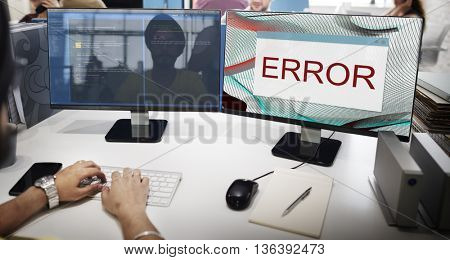 Error Disconnect Warning Failure AbEnd Concept