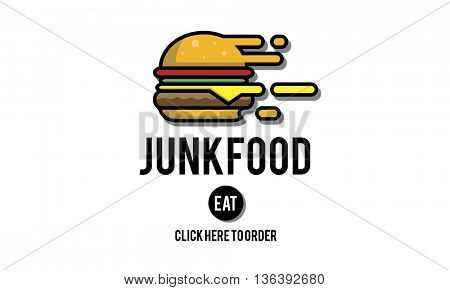 Junk Food Fast Food Unhealthy Obesity Concept