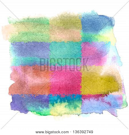 Watercolor bright banner template. Vector modern stylized background.