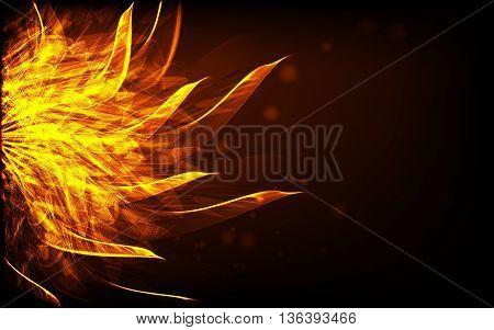 Abstract desktop background, futuristic sun illustration eps